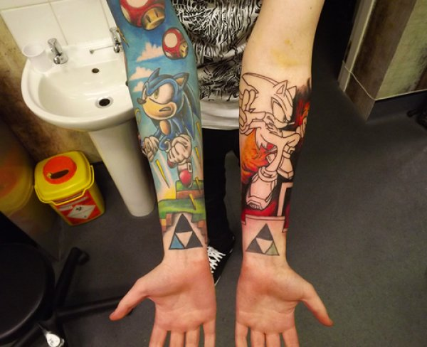 Gamer Arm Tattoo