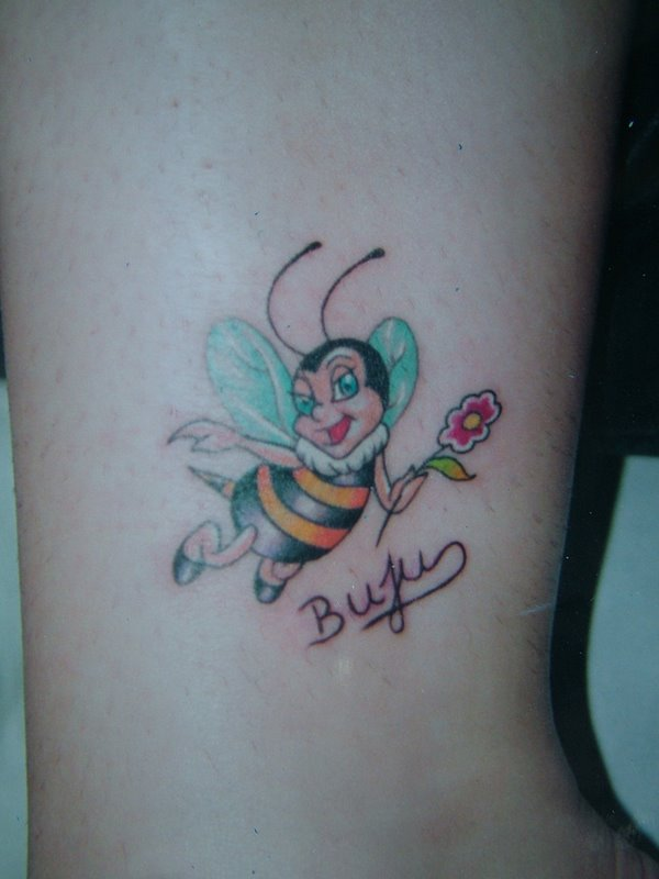 Girly Bee Tattoo