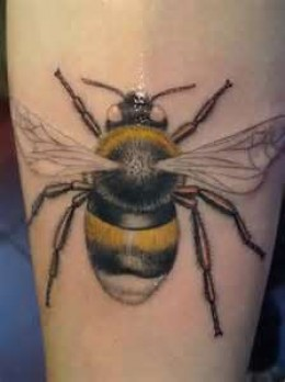 Glowing Bumblebee Tattoo Design