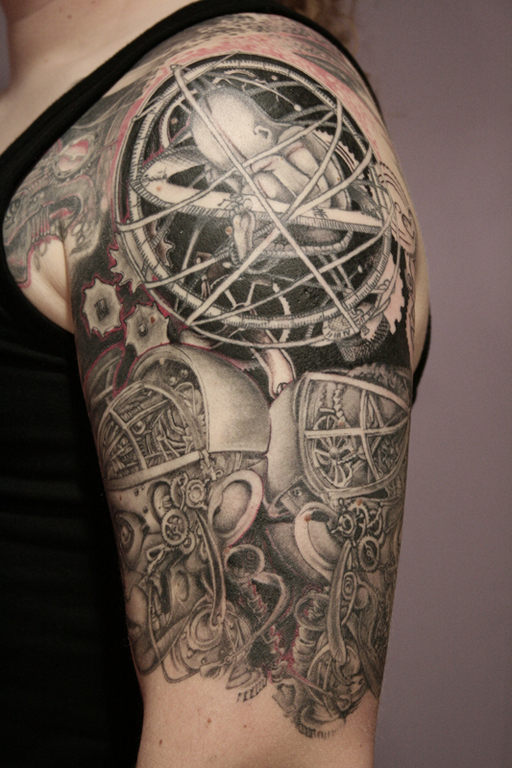 Half Sleeve Biomechanical Tattoo