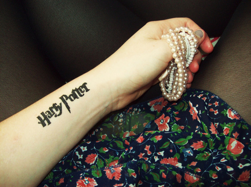 Harry Potter  Tattoo On Arm