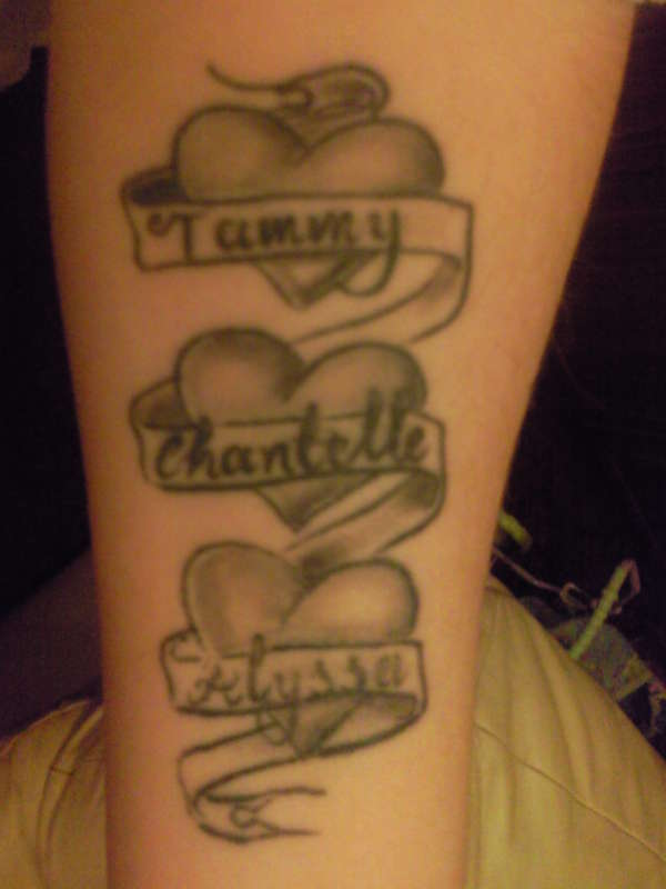 Heart Tattoo Designs With Kids Names Heart Tattoo Designs With Kids