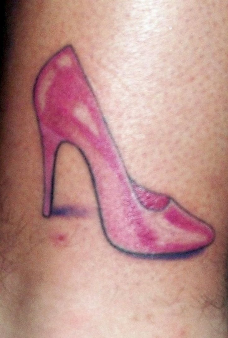 High Heel Ankle Tattoo