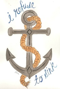 I Refuse To Sink Anchor Tattoo With Rope
