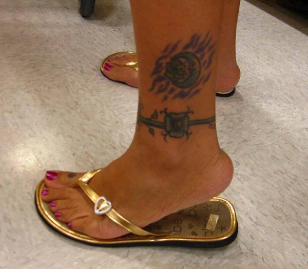 Inked Ankle Tattoo