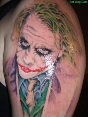 Jonathan Joker Batman Animated Tattoo Design