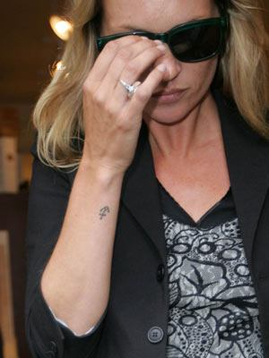 Kate Moss Anchor Tattoo