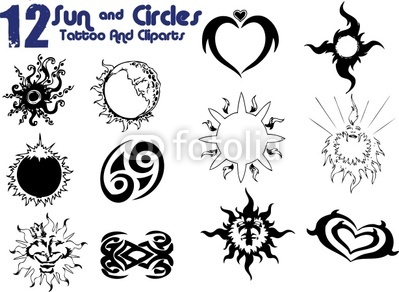 12 Circles Tattoo Designs