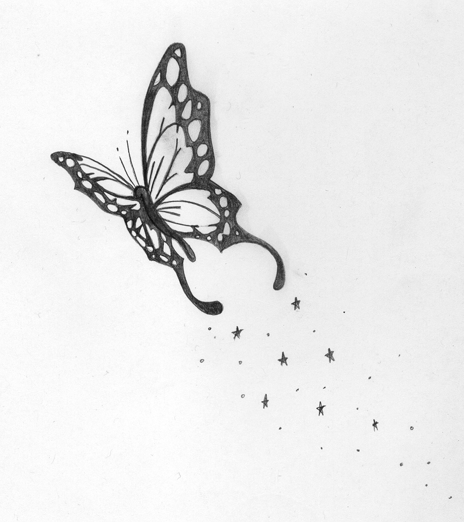 A Butterfly Tattoo Design