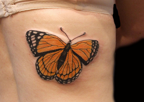A Monarch Butterfly Tattoo