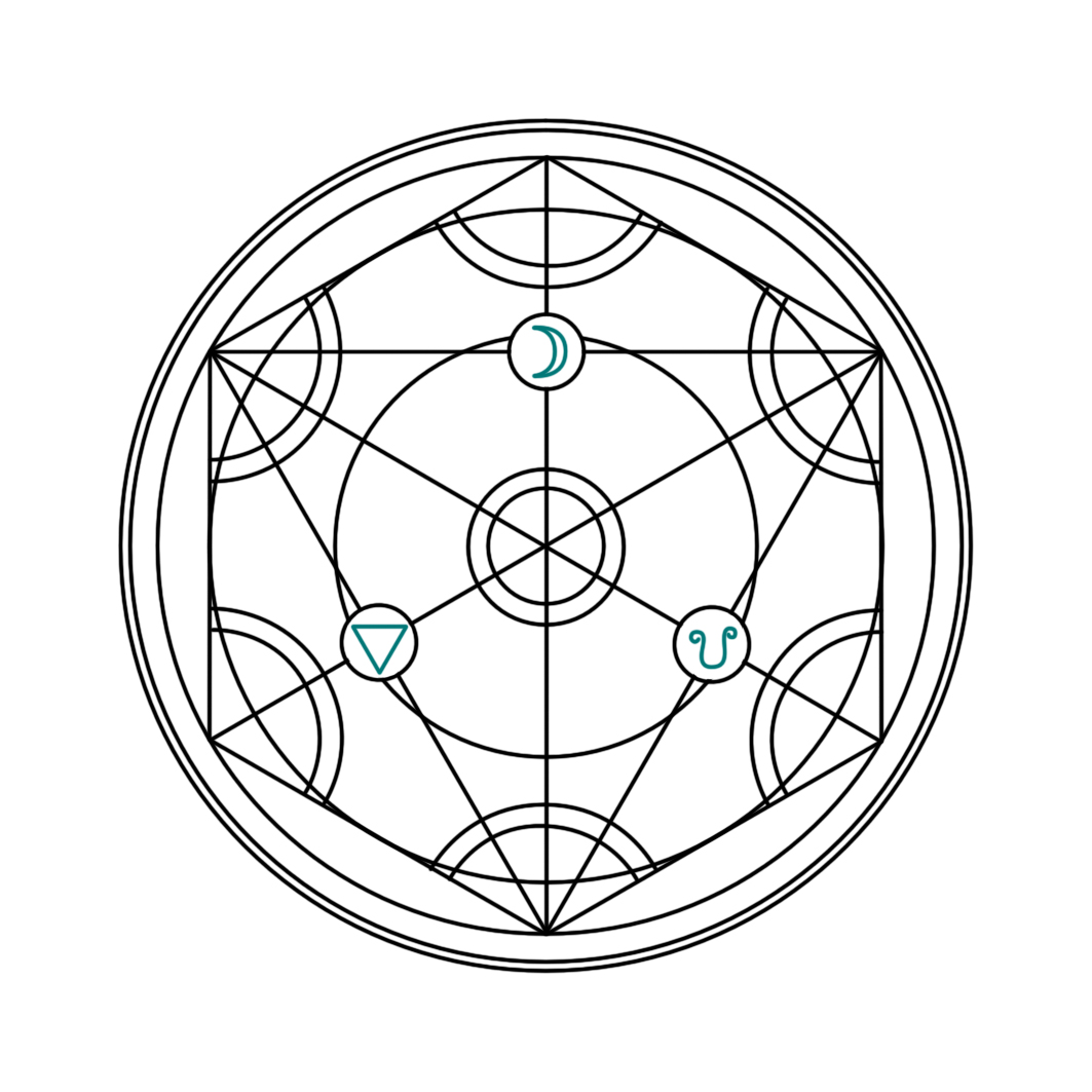 Alchemy Circle Tattoo Design