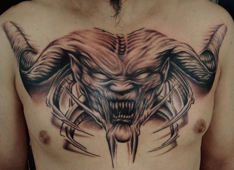 Alex Alien Tattoo On Chest