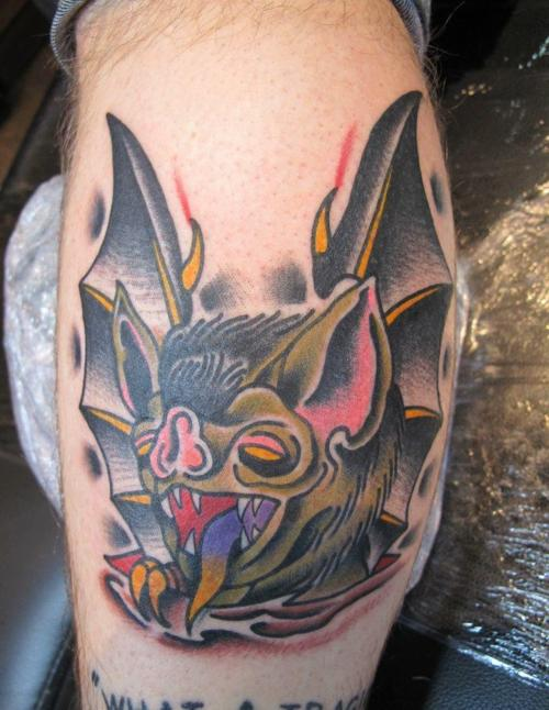 Amazing Cartoon Bat Tattoo Design