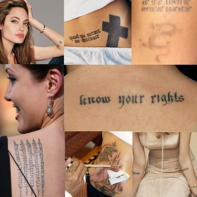 Angelina Jolie Tattoo Designs