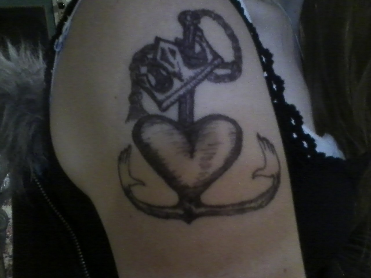 Artwork Anchor Claddagh Tattoo