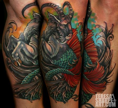 Attractive Capricorn Tattoo Image