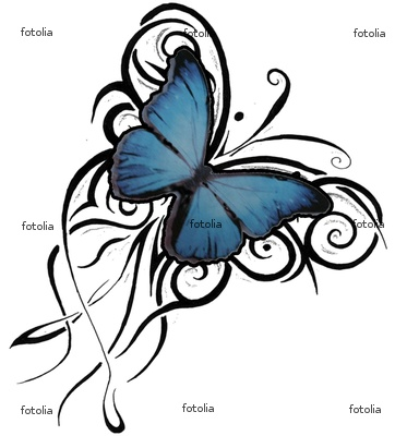 Awesome Butterfly Tattoo Image