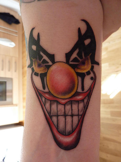 Big Nose Clown Tattoo Design