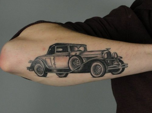 Black Car Tattoo For Arm