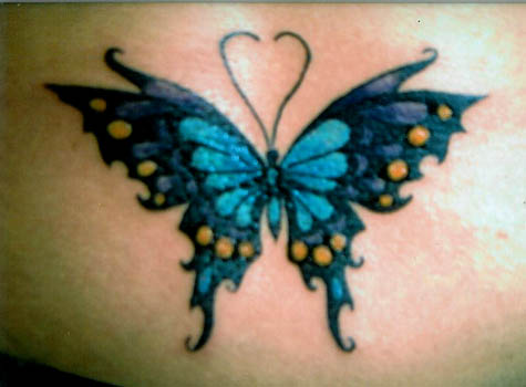 Blue Butterfly Tattoo Photo
