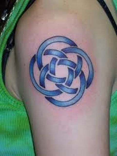 Blue Celtic Tattoo Design