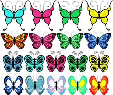 Lots Of Butterfly Tattoo Designs