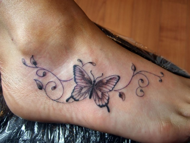 Butterfly Tattoo For Foot