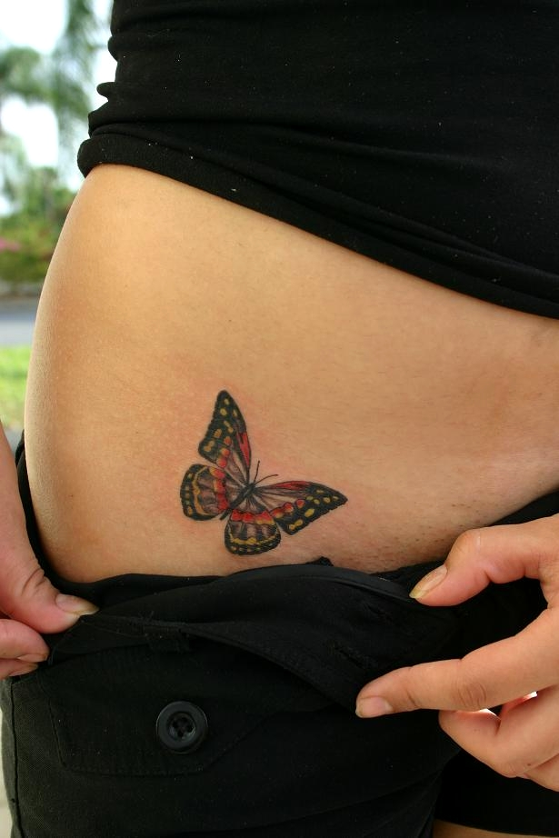 Butterfly Tattoo On Hip