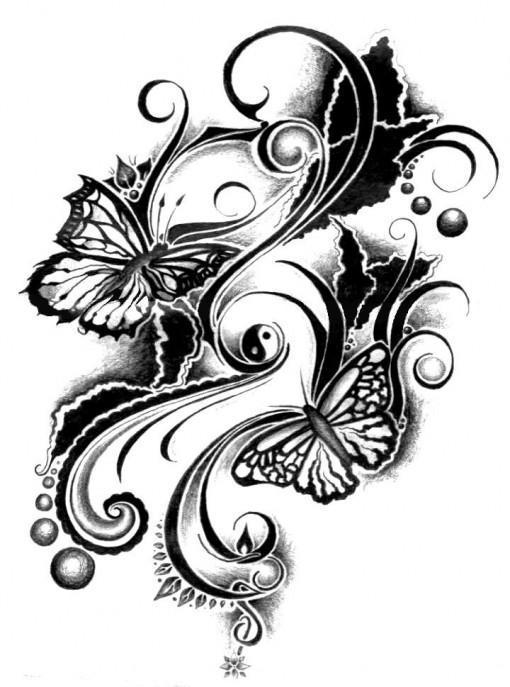 for tattoos tribal couples Designs Page Tattoos, 40 And Ideas : Butterfly