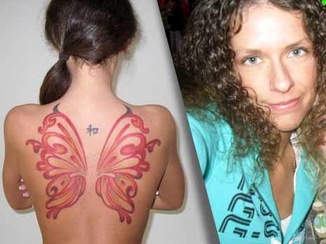 Butterfly Wings Tattoo For Girls