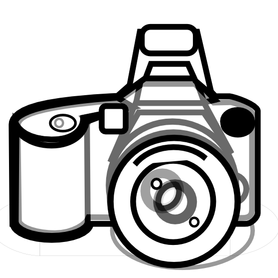 Camera Black White Line Art Tattoo Design