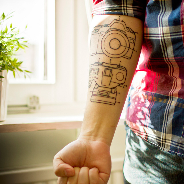 Camera Tattoo Diagram On Forearm
