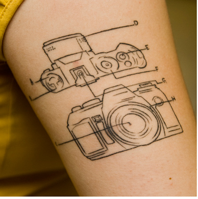 Camera Tattoo Diagram