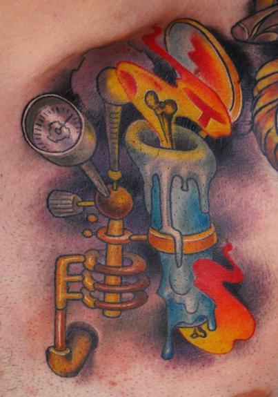 Candle Burning At Both Ends Tattoo Design