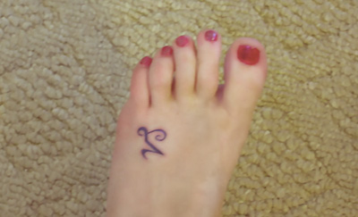 Capricorn Sign Tattoo On Foot