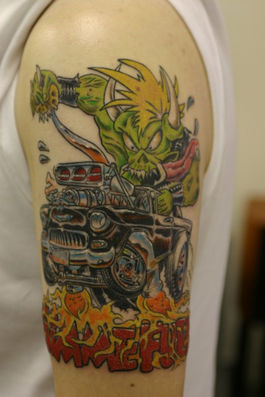 Car Tattoo On Arm