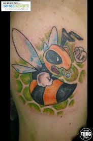 Cartoon Bee Tattoo