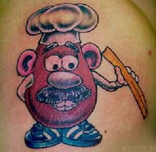 Cartoon Cook Tattoo