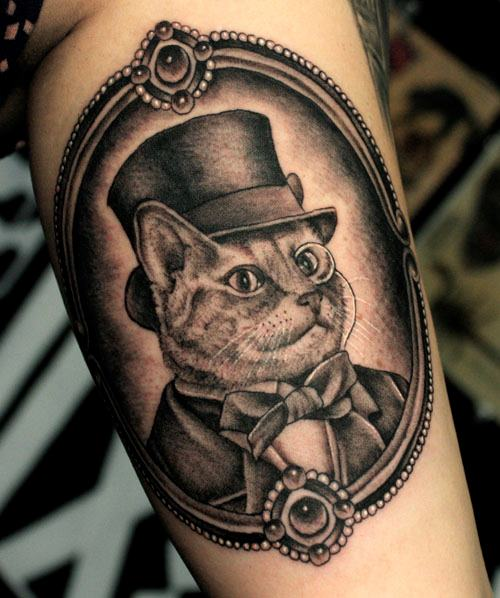 Cat Tattoo On Arm