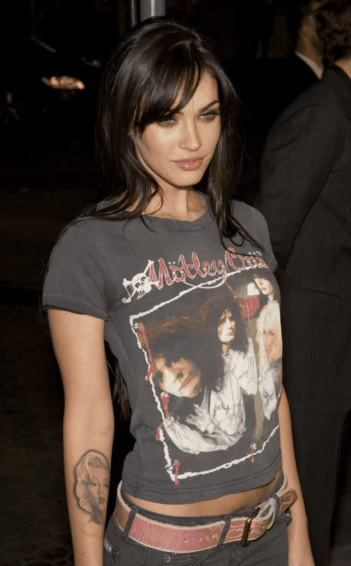 Celebrity Face Tattoo On Arm