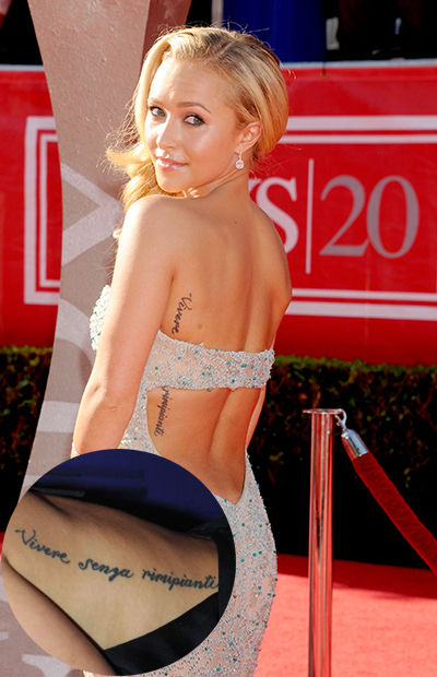 Celebrity Hayden Panettierre Tattoo Designs