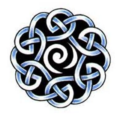 Celtic Braided Circle Tattoo Design