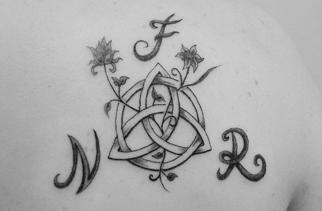 Celtic Circle Tattoo With Initials