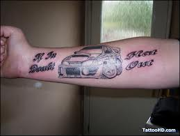 Charming Car Tattoo On Forearm