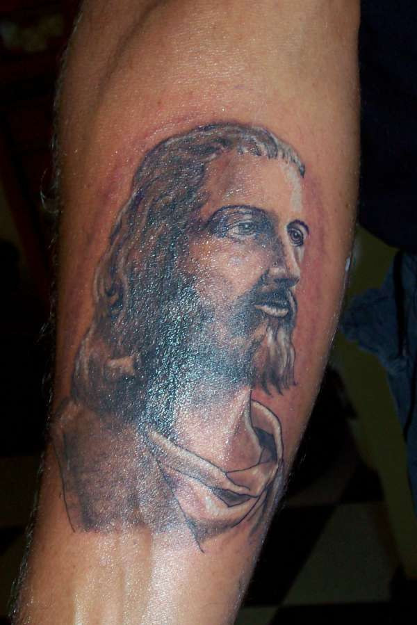 Charming Christian Cross Tattoo On Arm