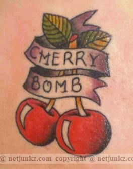 Cherry Bomb Tattoo Design