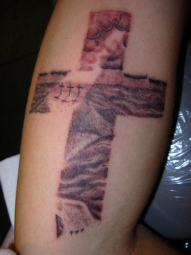 Christian Cross Tattoo Arm