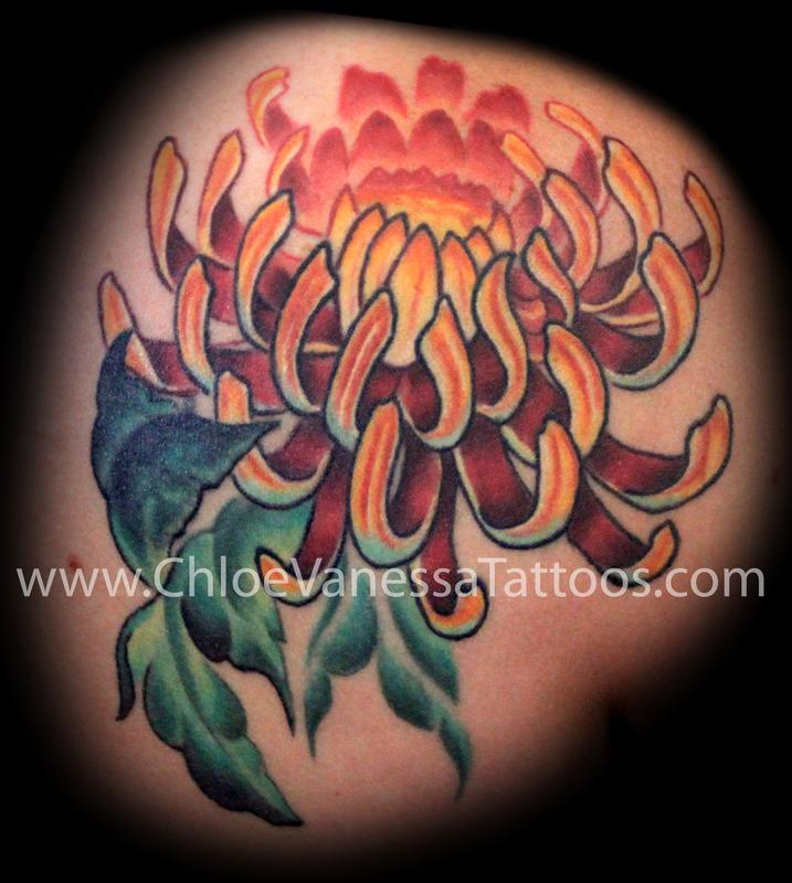 Chrysanthemum Charming Tattoo Design