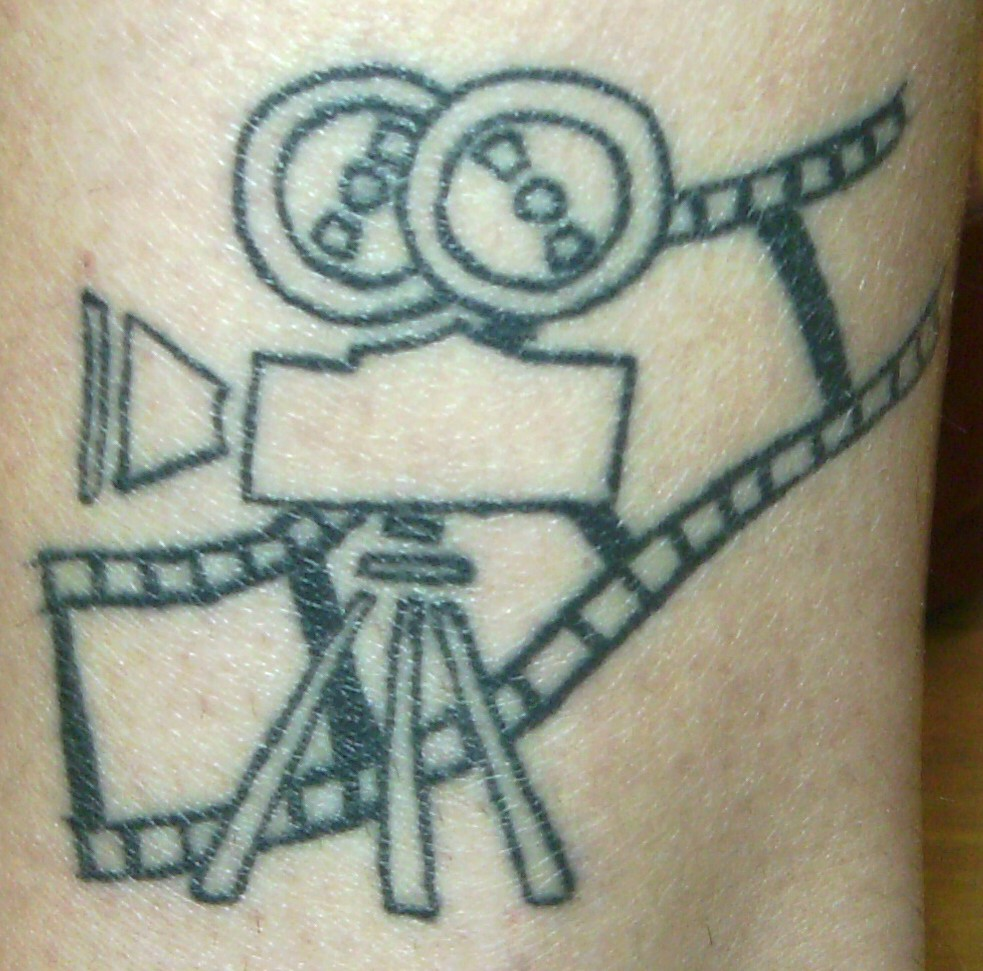 Cinema Camera & Reel Tattoo