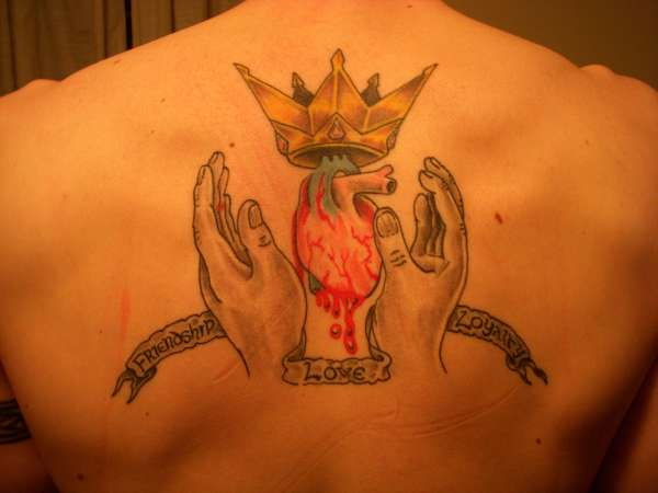 Claddagh Tattoo For Back